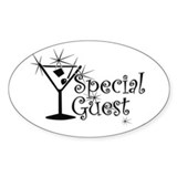 Black C Martini Special Guest Oval Decal