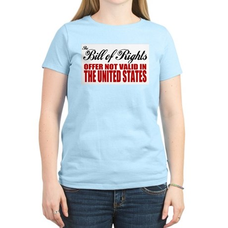 Bill of Rights (Not Valid) Women's Pink T-Shirt