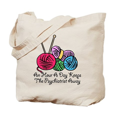 Funny Knitting Tote Bag