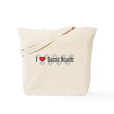 I heart Basset Hounds Tote Bag