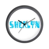 Sherlyn Faded (Blue) Wall Clock