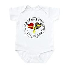 Half of my heart is overseas Infant Bodysuit