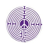 "labyrinth - peace 3.5"" Button"