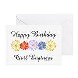 Civil Engineer Birthday (Blank) Greeting Card