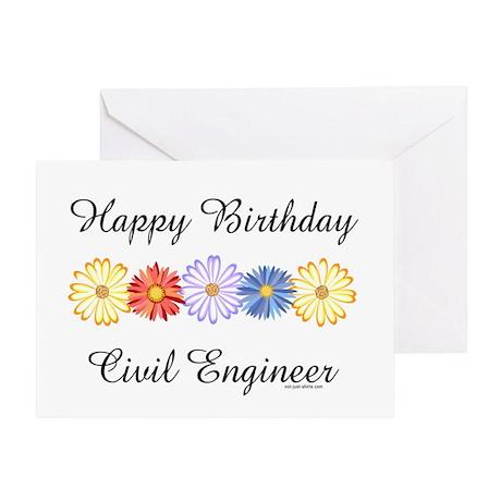 Barthol Graphics Gifts > Civil Engineer Birthday (Blank) Greeting Card