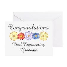 Civil Engineer Graduation (Blank) Greeting Card