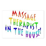 Massage in the house Postcards (Package of 8)