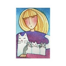 CAT MOM No. 9...Refrigerator Magnet (no text)