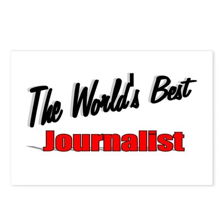 """The World's Best Journalist"" Postcards (Package o"