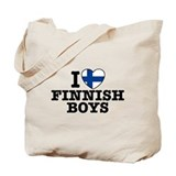 I Love Finnish Boys Tote Bag