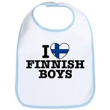 I Love Finnish Boys Bib
