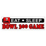 Bowl 300 Game Car Sticker