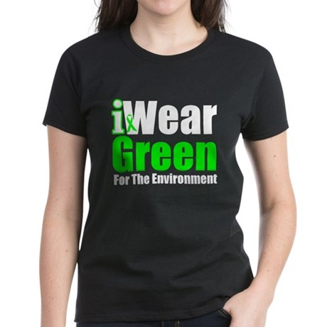 I Wear Green Environment Women's Dark T-Shirt