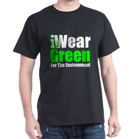 I Wear Green Environment Dark T-Shirt