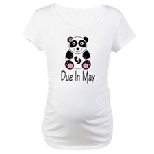 Panda Due In May Maternity Tee