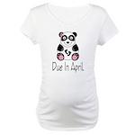 Panda Bear Due In April Maternity T-Shirt