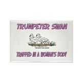 Trumpeter Swan Trapped In A Woman's Body Rectangle