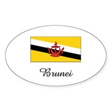 Brunei Flag Oval Decal
