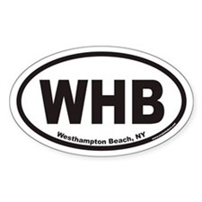 Westhampton Beach WHB Euro Oval Decal