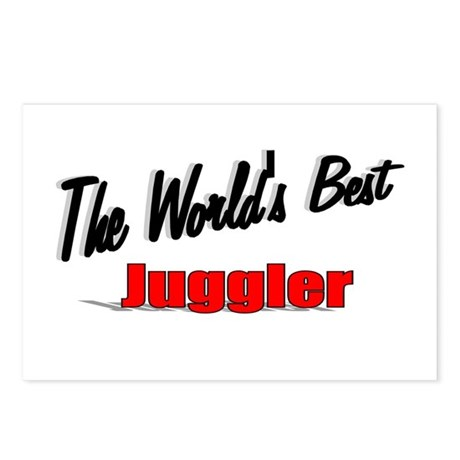 &quot;The World's Best Juggler&quot; Postcards (Package of 8