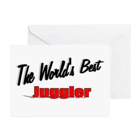 &quot;The World's Best Juggler&quot; Greeting Cards (Pk of 2