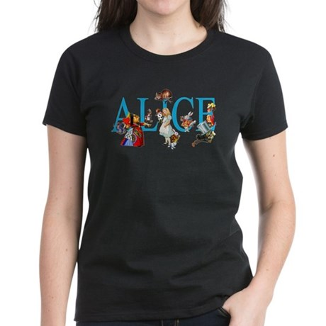 ALICE IN WONDERLAND & FRIENDS Women's Dark T-Shirt