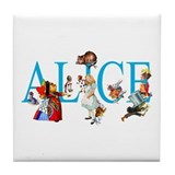 ALICE IN WONDERLAND & FRIENDS Tile Coaster