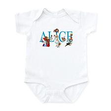 ALICE IN WONDERLAND & FRIENDS Infant Bodysuit