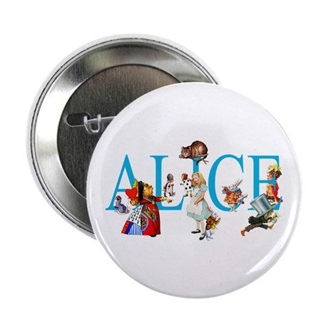 "ALICE IN WONDERLAND & FRIENDS 2.25"" Button"