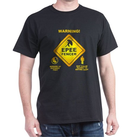 Warning! Epee Fencer T-Shirt