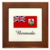 Bermuda Flag Framed Tile