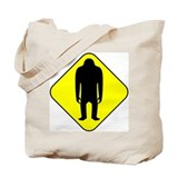 Sasquatch Road Sign Tote Bag