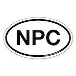NPC Oval Sticker