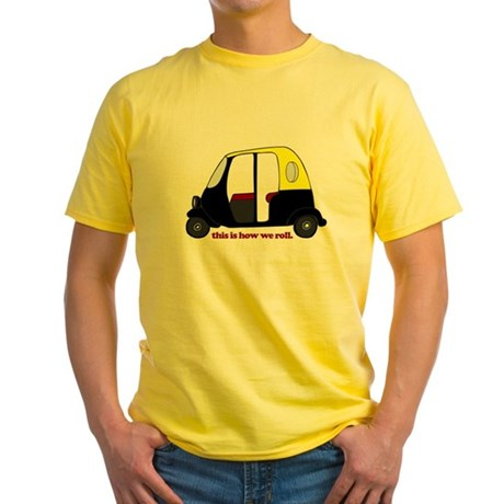 This Is How We Roll Rickshaw Yellow T-Shirt