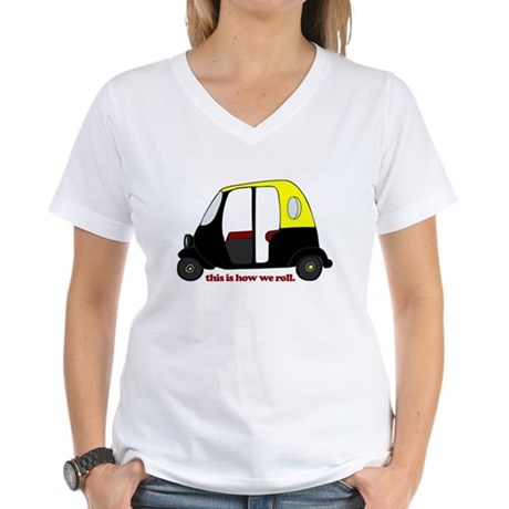 This Is How We Roll Rickshaw Women's V-Neck T-Shir