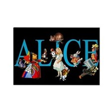 Alice in Black Rectangle Magnet (10 pack)