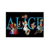 Alice in Black Rectangle Magnet