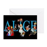 Alice in Black Greeting Card