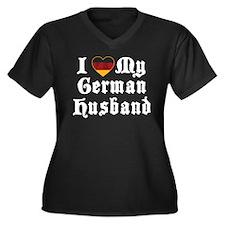 I Love My German Husband Women's Plus Size V-Neck