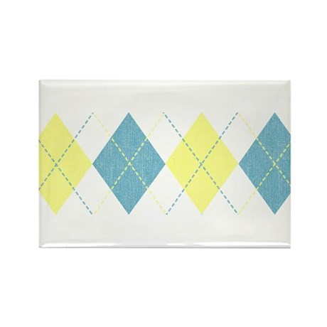 Argyle Business Casual Rectangle Magnet