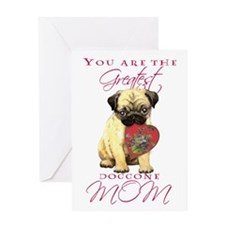 Pug I Love Mom Greeting Card