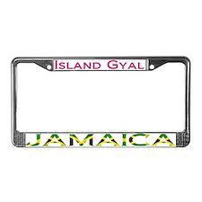 Island Gyal JAMAICA - License Plate Frame