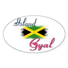 Island Gyal - Jamaica Oval Decal