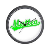 Retro Matteo (Green) Wall Clock
