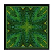 SnakesSkins Green Tree Python Tile Coaster