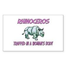 Rhinoceros Trapped In A Woman's Body Decal