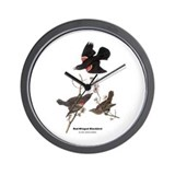 Audubon Red-Winged Blackbird Wall Clock