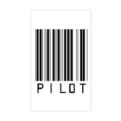Pilot Barcode Rectangle Sticker