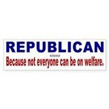 Republican Bumper Car Sticker