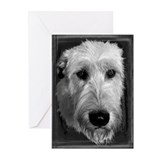 10 B & W Irish Wolfhound Greeting Cards - #12
